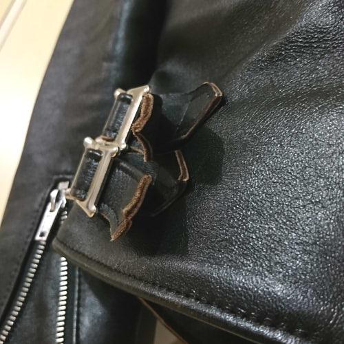 【レビュー】666のライダースジャケット 97,200円のウールシープレザー