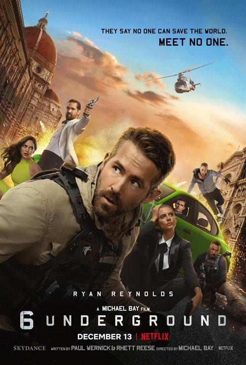 Netflixオリジナル映画『6アンダーグラウンド』のポスター