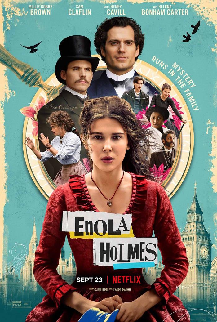 ネタバレ感想【エノーラホームズの事件簿】大人にはつまらない。15歳くらいまでしか楽しめなさそう
