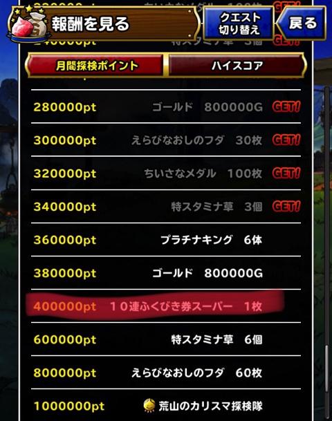40万ポイント