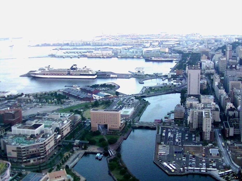 横浜ロイヤルパ-クホテル55階からの眺め