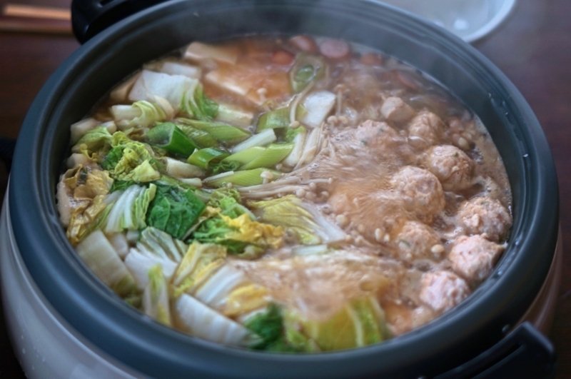 鶏のつみれ鍋