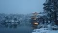 京都新聞写真コンテスト 雪の金閣寺