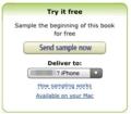 Kindleで電子書籍をダウンロード