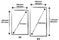 iPhone5を4インチ液晶にした場合 iPhone4Sとのサイズ比較