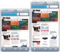 iPhone5を4インチ液晶にした場合 iPhone4Sとのサイズ比較 ブラウザ