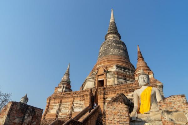ワット・ヤイチャイモンコンの仏塔の画像