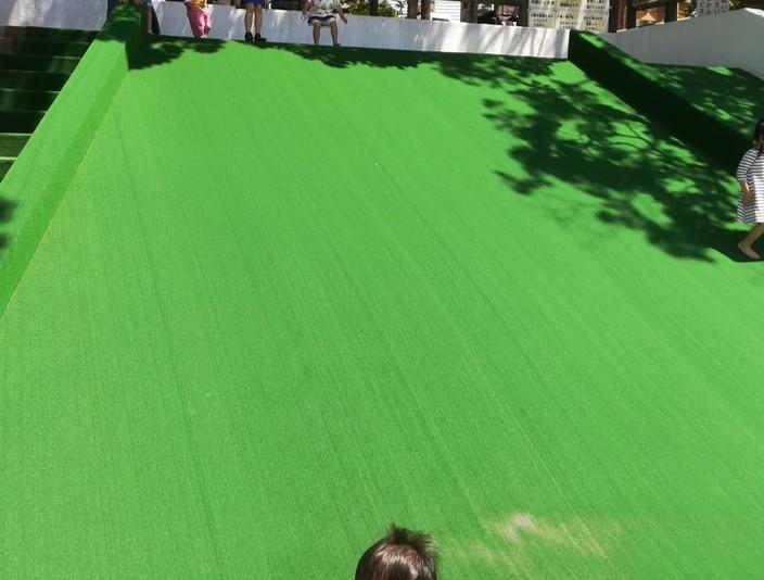 芝生滑り台