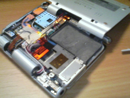 UX50バッテリーを取り去った状態