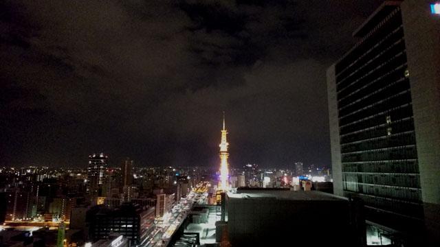 ライトアップされたさっぽろテレビ塔