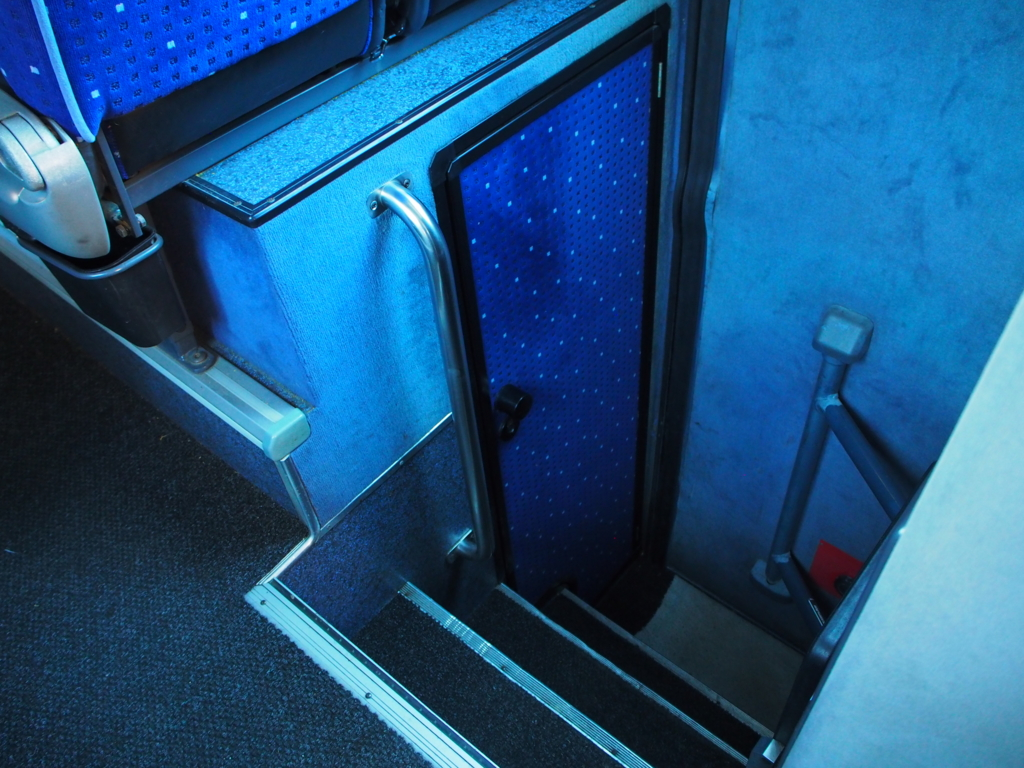 久しぶりのトイレ付きのバスで安心
