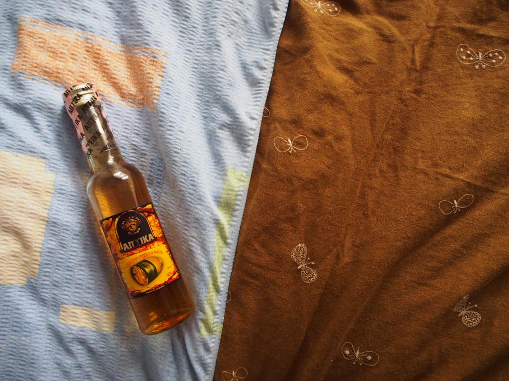 ドイツ人の旅人さんがくれた強いアルコール