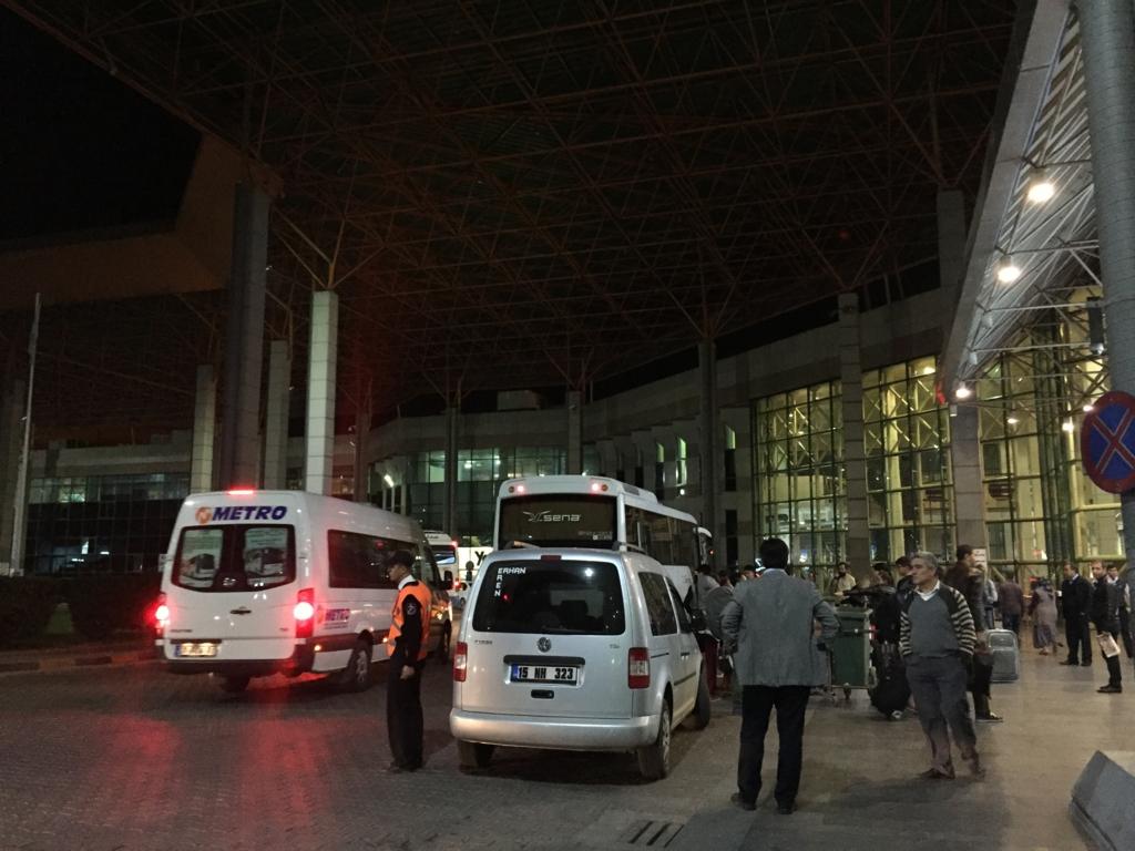 アンタルヤの巨大なバスターミナル