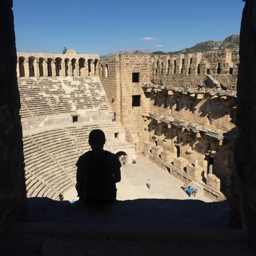 アスペンドス遺跡観客席上からの眺め