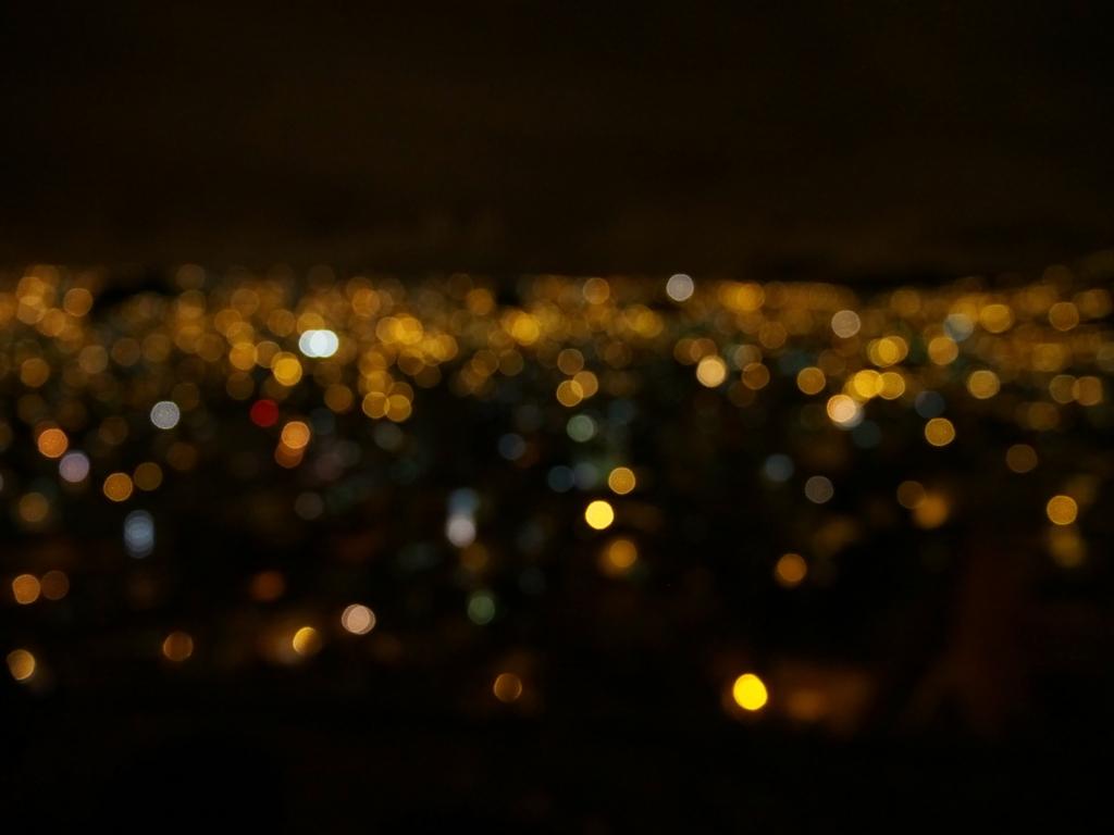 ラパスのキラキラの夜景