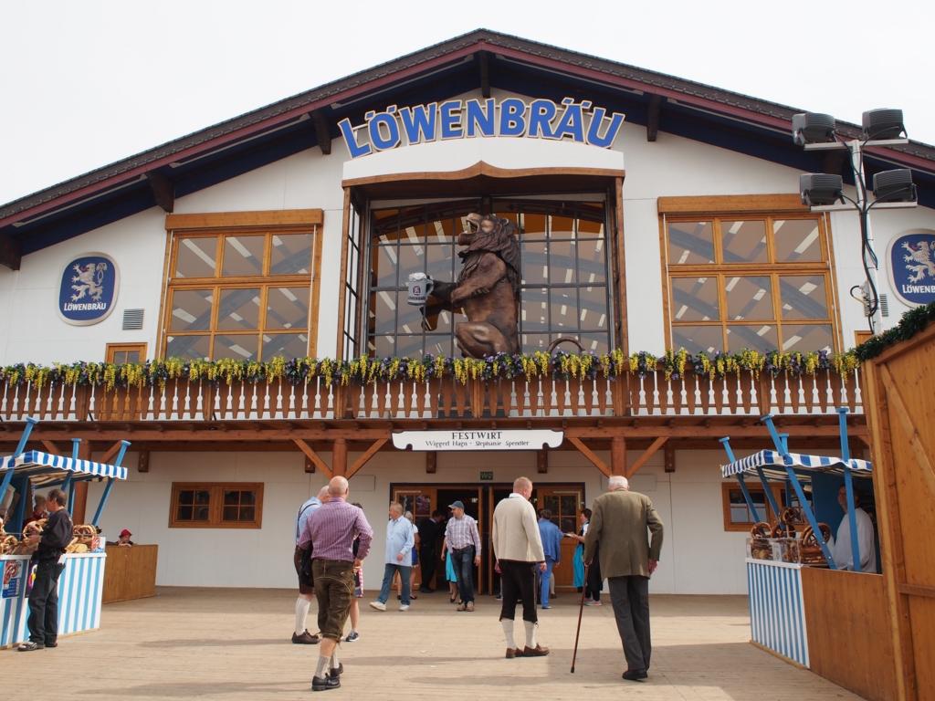 LOWENBRAUレーベンブロイのビールテント