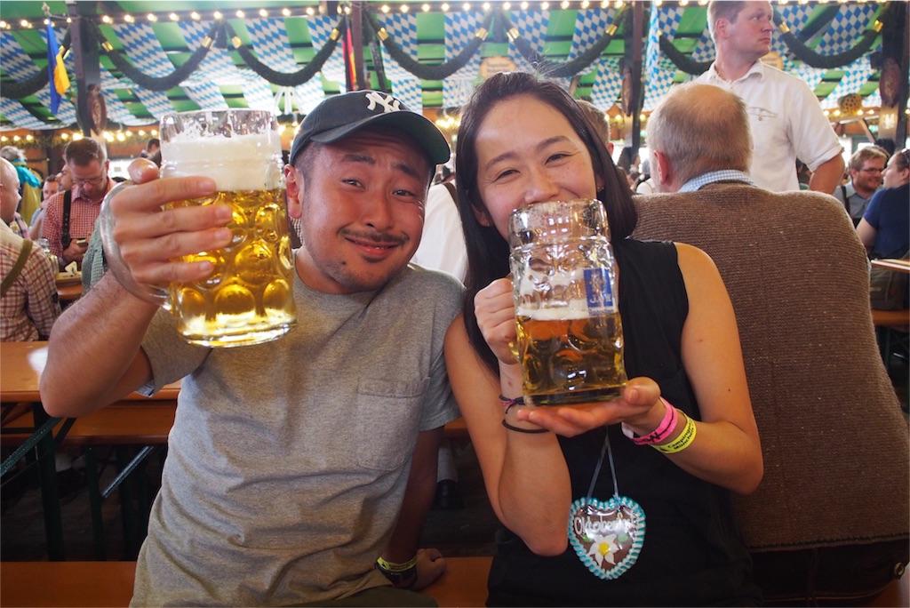 ビールにほろ酔いになってきた旦那さん