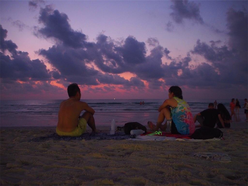 ハードリンビーチの朝焼け