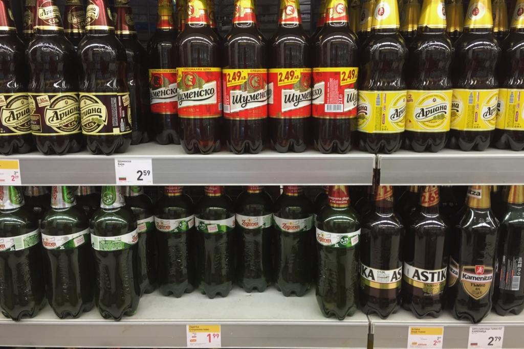 ブルガリアの激安ビールいろいろ