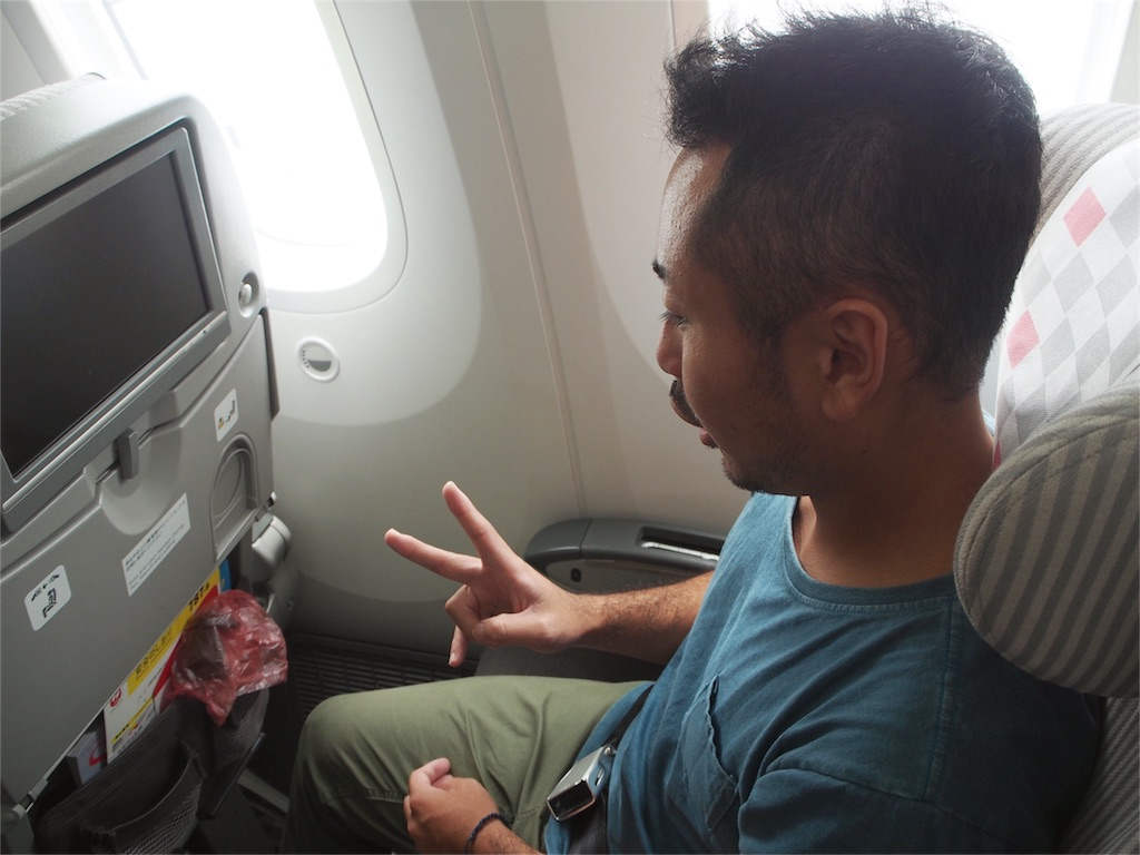 JALのエコノミーのシートは広い!