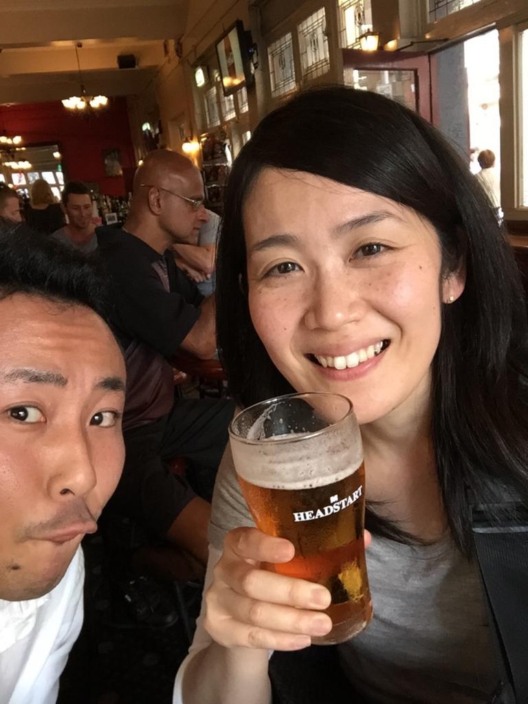 シドニー初日ももちろんビール
