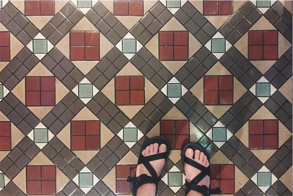 床のタイルまでかわいい♡