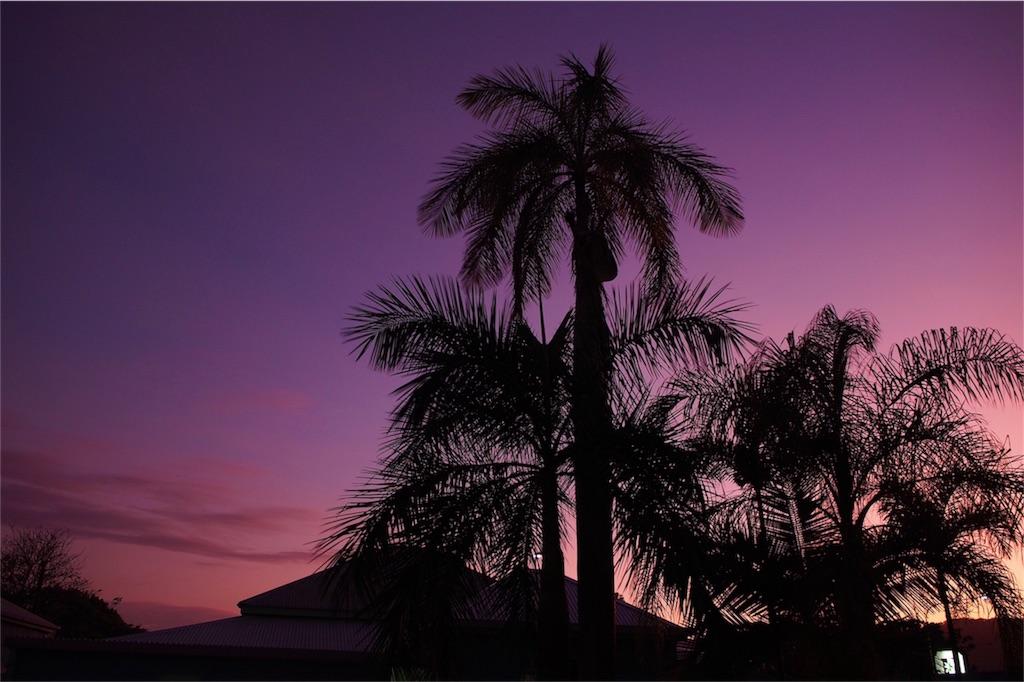 夕焼けも綺麗でした
