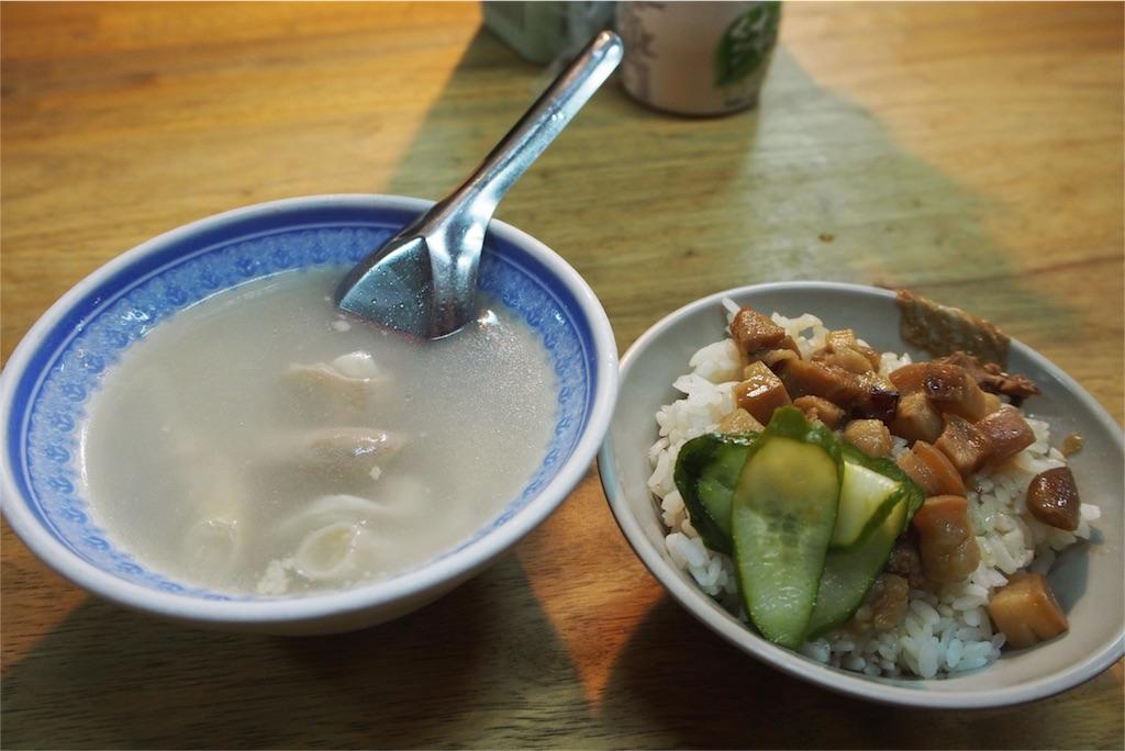 魯肉飯とスープを一緒にオーダー