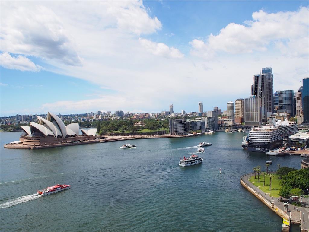 シドニーのオペラハウスのある風景