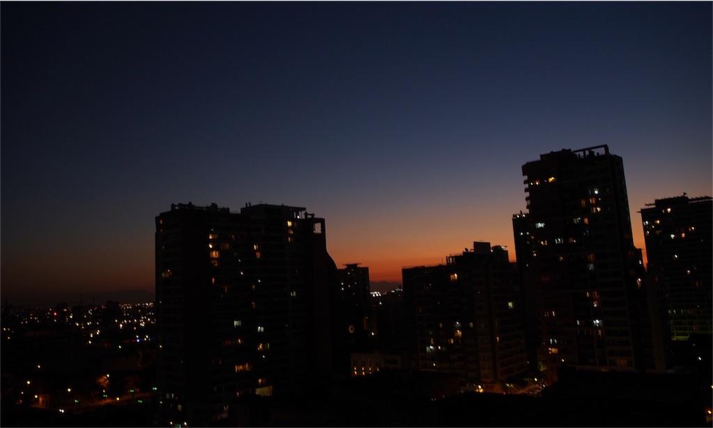 サンティアゴの夜景