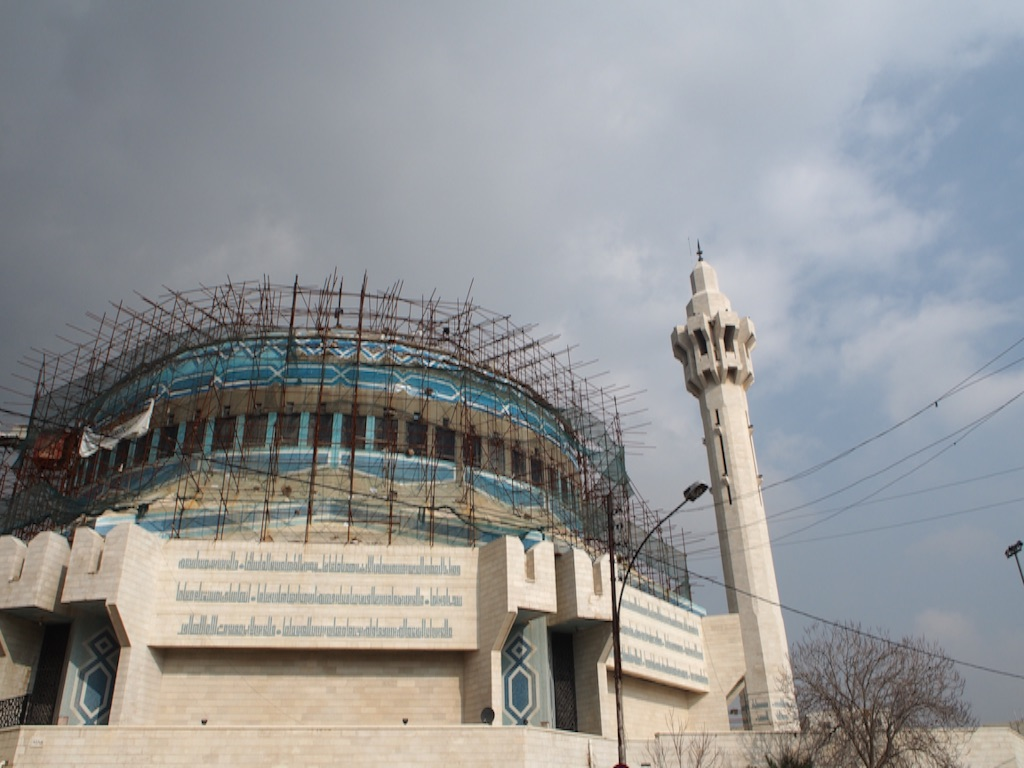 モスクは残念ながら工事中