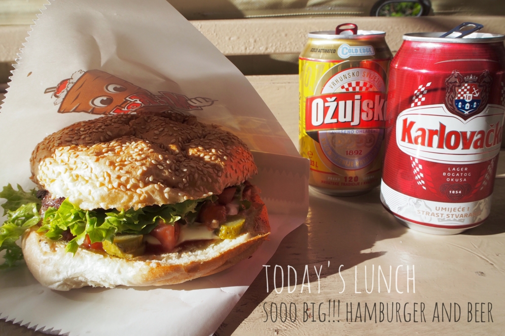 ドブロブニクで食べたハンバーガー