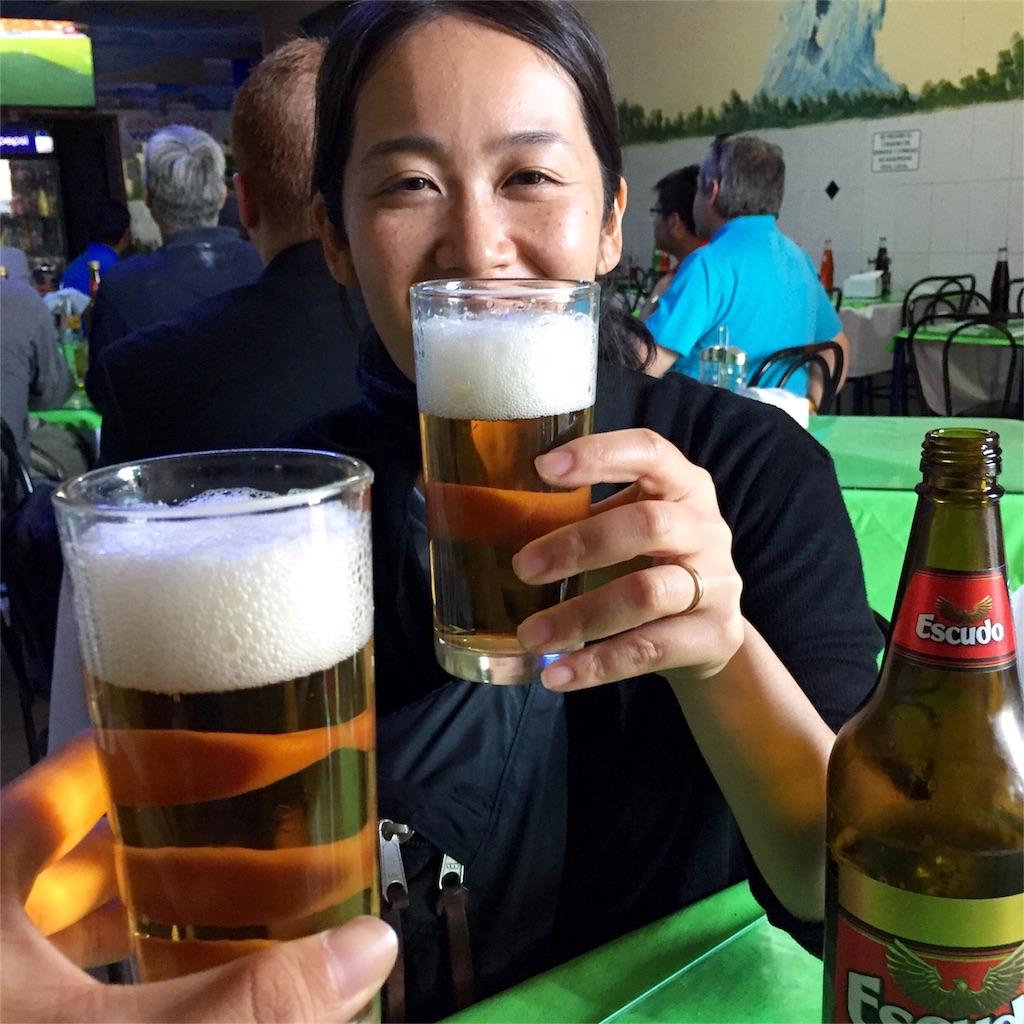 ラセレナに戻ったら 今度はビール