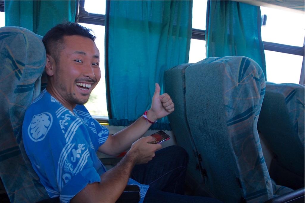 ビクーニャからのバスの車内
