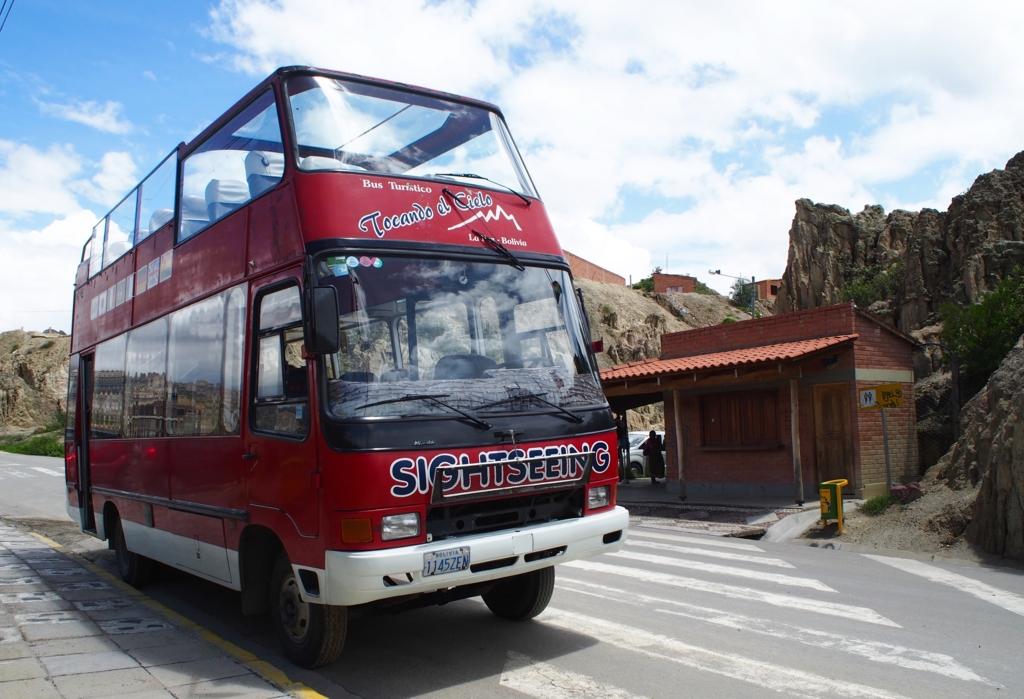 ラパスの観光バス外観