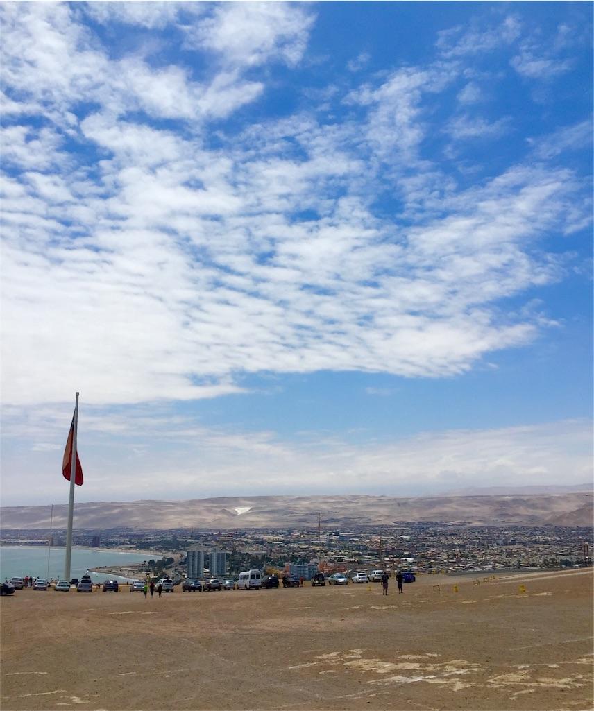 アリカ要塞から眺めたアリカの街並み