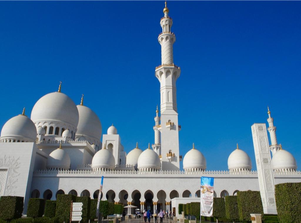 アブダビ シェイクザイードグランドモスクのエントランス