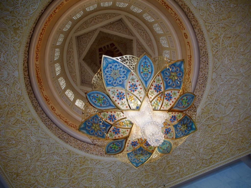 アブダビ シェイクザイードグランドモスクのシャンデリア