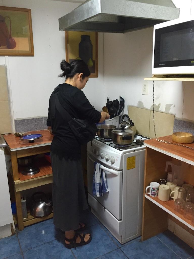 チリ ラセレナの宿のキッチン