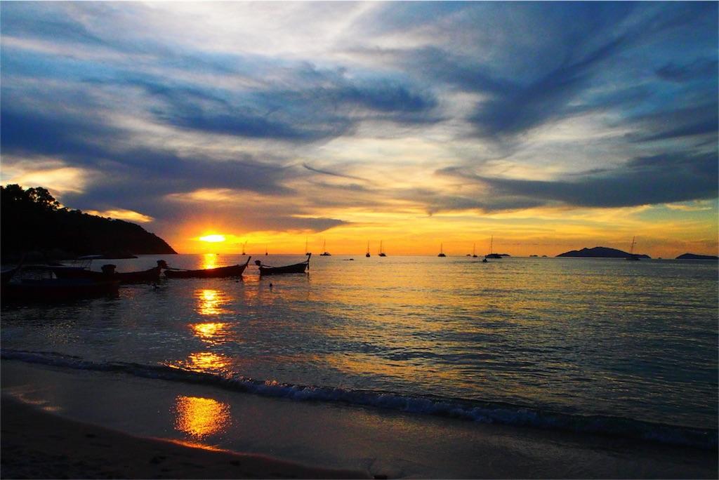 夕日を観に行ったサンライズビーチ