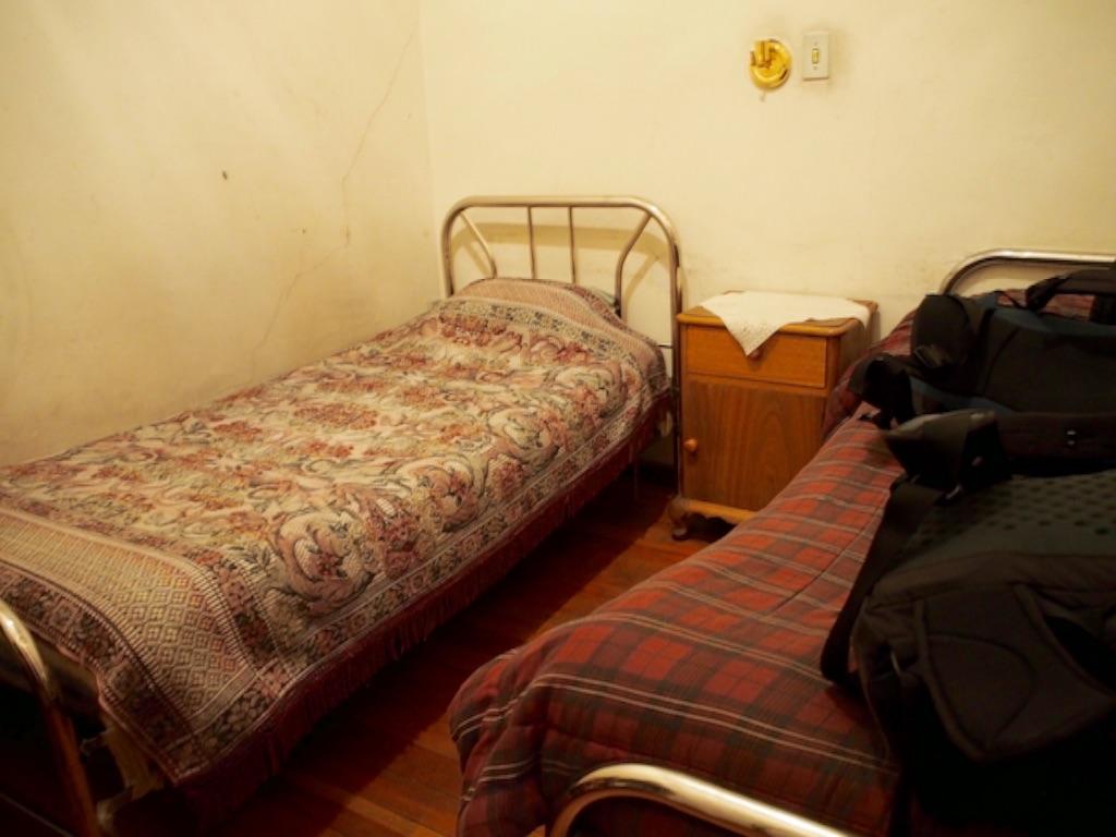 ボリビア ラパスの宿 室内の様子
