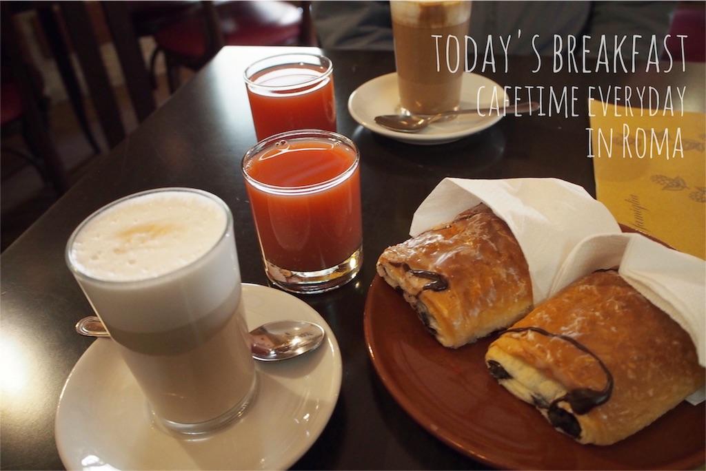 ローマの宿の美味しい朝カフェタイム