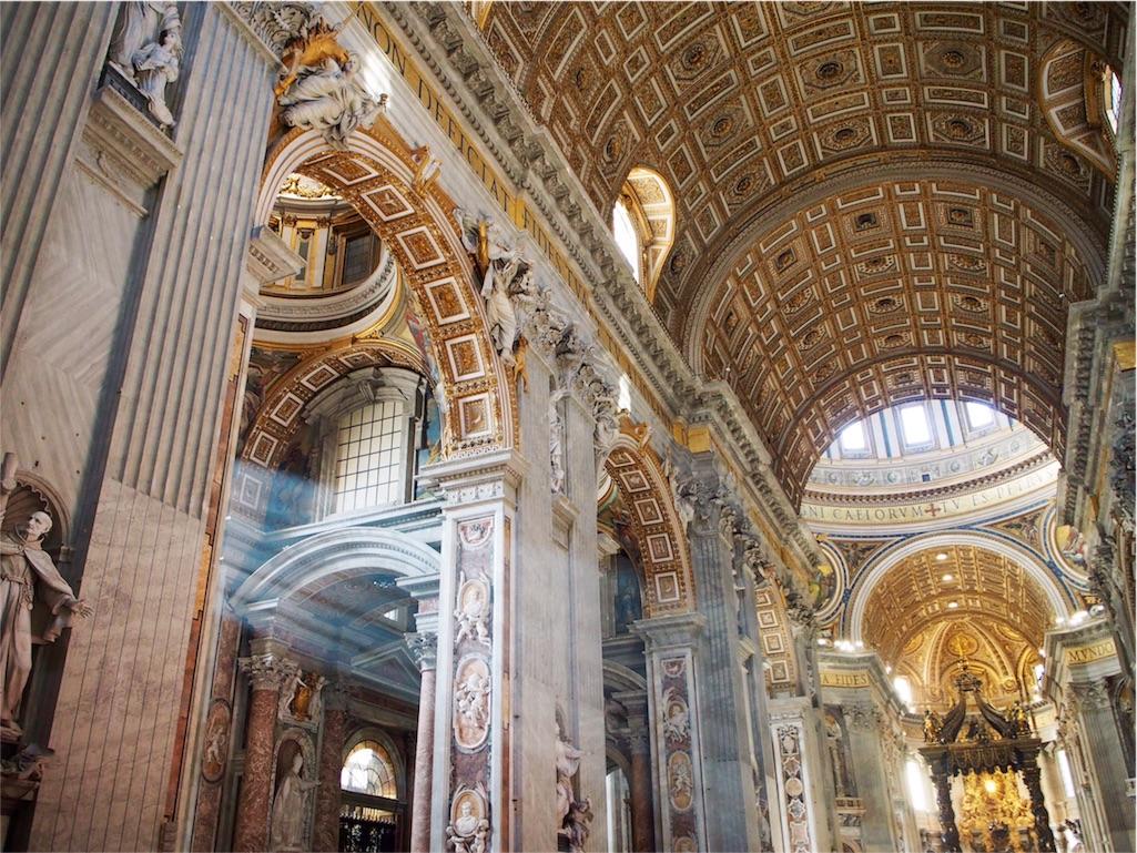圧巻のサンピエトロ大聖堂