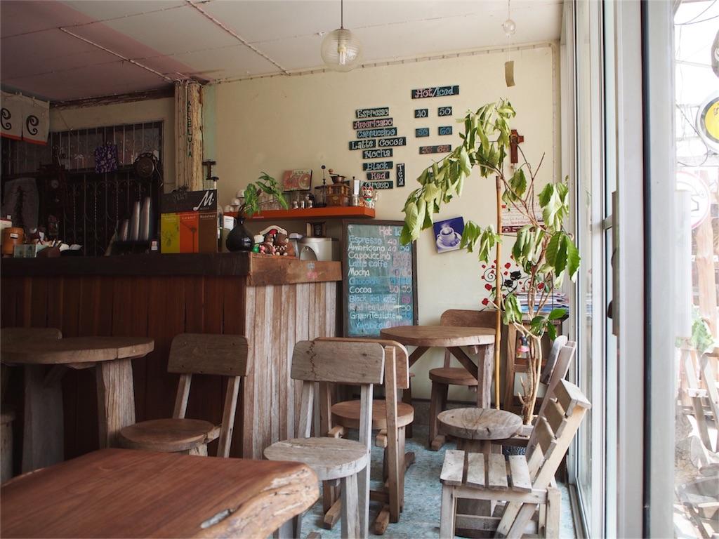 カフェの店内の様子