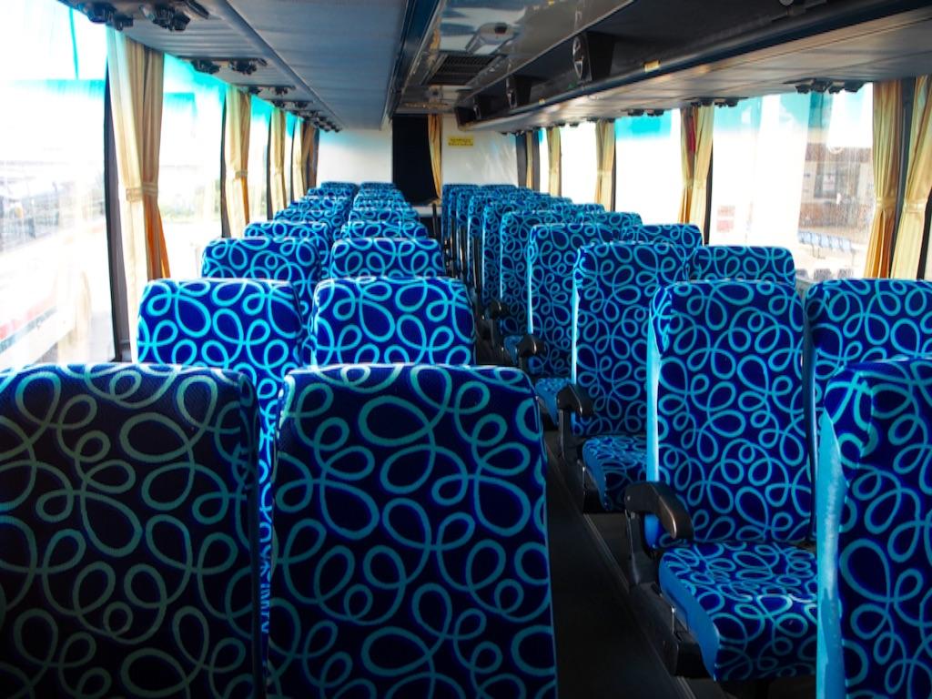 綺麗なバスの車内の様子