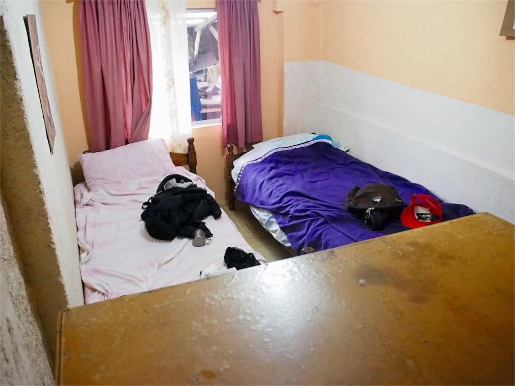 翌日から宿泊することになった個室