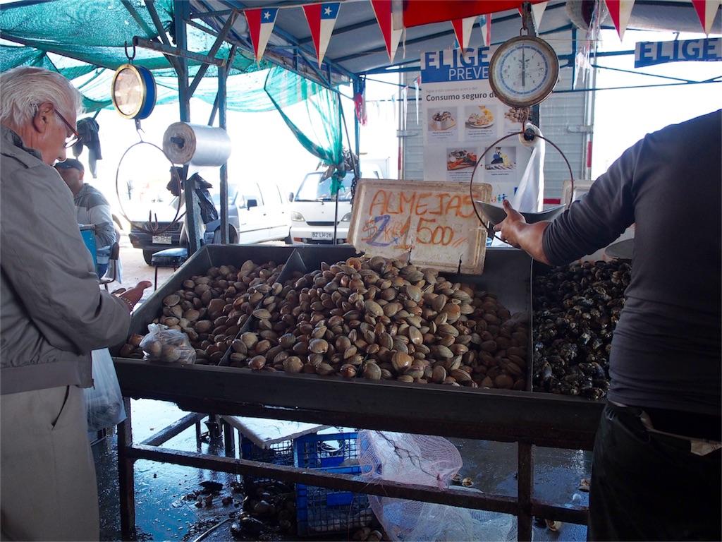魚市場には新鮮な海鮮が海鮮がたくさん