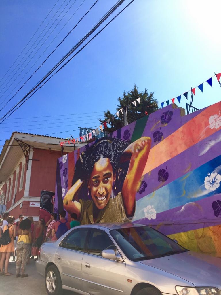 チリ バルパライソの壁画