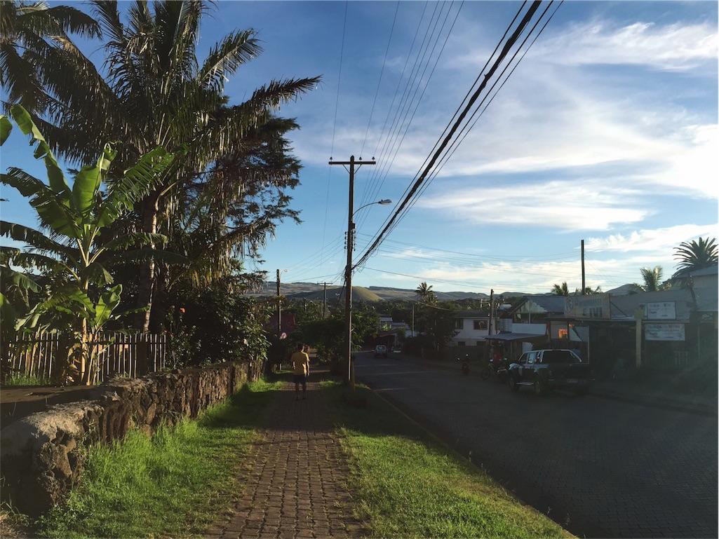 イースター島の朝の様子