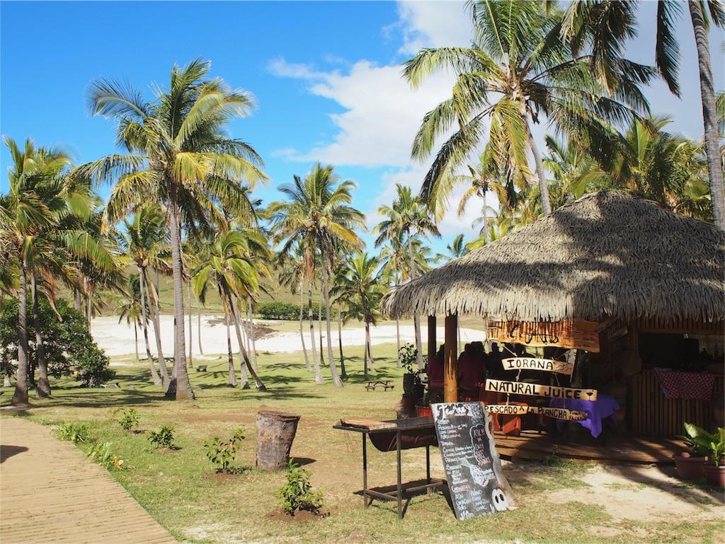 アナケナビーチのカフェの様子